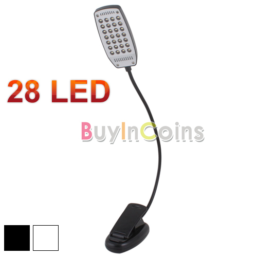 USB 2.0 Clip-on Flexible Book Reading 28 LED Light Lamp Battery for PC Lapbook #3 [23812|99|01](China (Mainland))