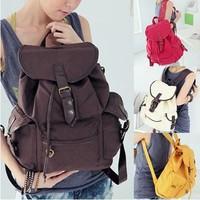 Beautiful Women Ladys Fashion Korean Style Girl New Leisure Canvas Shoulder Bag Backpack