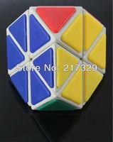 White QJ Diamond Magic Cube Pyraminx Triangle Hexagon Puzzles Twist Mind Teaser Intelligence Toy Spare Time Entertainment Tool