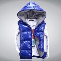 2012 fashion autumn and winter male vest down cotton vest reversible with a hood vest lovers female vest