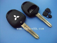 Mitsubishi 2 Button Remote Key Case With MIT8 Blade Left Side NO LOGO