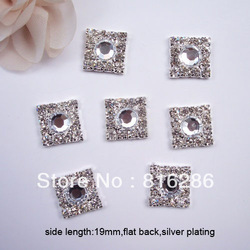 (J0020) 19mm side length,100pcs/lot, square rhinestone embellishment,big product(China (Mainland))