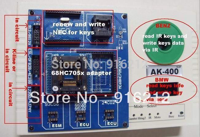 DHL free shipping new auto Key Programmer for MB AK400 Key Maker AK400 for Ben(China (Mainland))