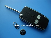 Mitsubishi 2 buttons flip modified remote key blank key case