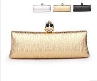 Handbag, diamond-encrusted female bag, gold, silver, black, party bags, women bags, women messenger bag