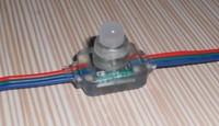 DC12V input WS2811 pixel node,100pcs a string,injection molding type
