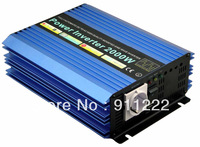 Free shipping  2000W0 2kw  Modified sine wave power inverter (48V DC to 110vAC / 220vAC-50/60hz) CE,ROHS Peak power:4KW