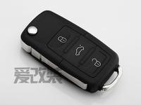 Free shipping OEM high quality car  folding remote key shell case for Volkswagen VW skoda passat tiguan polo sagitar golf  keys