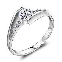 Luxury 100% genuine 925 sterling silver women ring fashion wedding jewelry JJ003