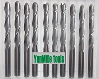 Free shipping 10Pcs 3.175x3.175x22mm 2 flutes ball nosed carbide end mills,cnc cutting router bits,