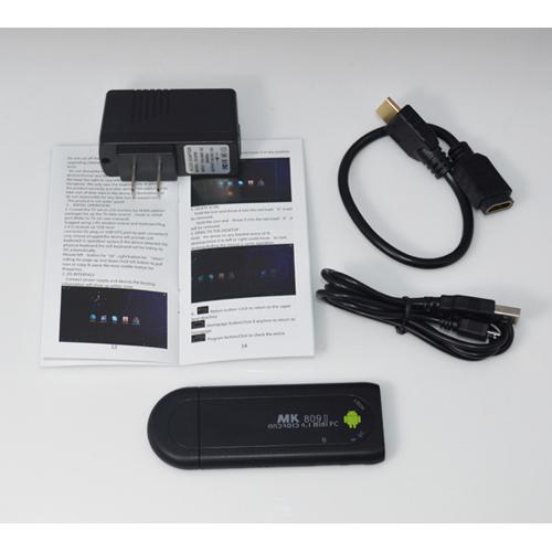 MK809ii Android 4.2 Mini PC TV Stick Rockchip RK3066 1.6GHz Cortex A9 Dual core 1GB RAM 8GB Bluetooth MK809 II 3D TV Box