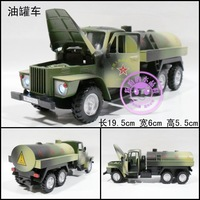 Alloy car model military trucks oil tank truck transport vehicle three door acoustooptical WARRIOR