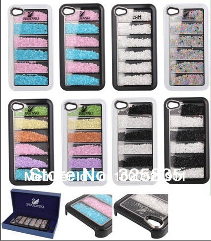 For iPhone 4/4S Swarovski Crystal Rainbow series Cover Case(China (Mainland))