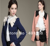 Womens coats clothing fashion slim fitted wool coats slim fitted outerwear overcoats Coats 4size 969