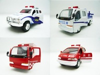 public security police fire truck alloy car model toy plain