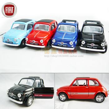 only light blue color!  soft world fiat 500 WARRIOR alloy car model toy