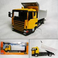 Scania 6 wheel dump truck luxury gift box alloy car model