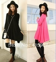 Free shipping! knitting material big Lap dress Two colr Free size