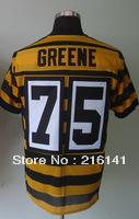 Free/Fast Shipping,Sewn On #75 Joe Greene Men's Throwback Yellow Football Elite Jersey,Size 40,44,48,52,56.Accept Drop Shipping.