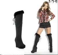New fall arrives, fashion warming  lady  high heels boots,longer women shoes