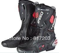 2012 New motorcycle boots Pro Biker SPEED Racing Boots,Motocross Boots,Motorbike boots SIZE: 40/41/42/43/44/45 black