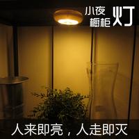 Novelty!! LED Lighting control+Mini Human Body Motion Sensor Lamp,Portable Kitchen Cabinet Nightlight, PIR Induction Night Light