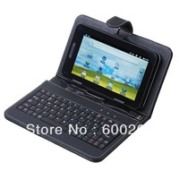 "Free shipping//USB Keyboard Leather Cover Case Bag for 7"" Tablet PC MID PDA//8352"