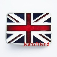 free shipping,  England Confederate Rebel Flag  Belt Buckle , 3pcs/lot