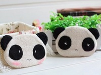 hot sale! 100% new cute cartoon panda purse ,manual perle lovers coin purse,free shipping