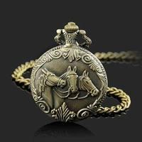 Best Three Horse Quartz Pocket Watch