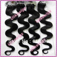 "#1 Body Wave 20"" Micro Ring Loop  Brazilian Virgin Hair Extension (1g/strand x 100)"