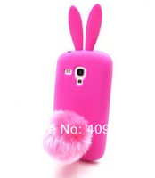 Lovely Cute Bunny TPU Skin Rabbit Soft Back Case Cover for Samsung Galaxy S3 Mini i8190+free shipping