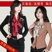 2014 Women's formal autumn ol work wear women's suit set fashion skirt piece set work wear Free shipping