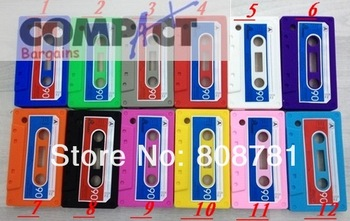 Free shipping 12 different color Black Berry 8520 Cassette case Tape Case for BB8520 8530,tape case for bb8520