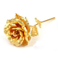 Wholesale Free shipping retail Great Valentine's day /Birthday gifts, 16cm length,24k Gold foil Rose (open), 20pcs/lot