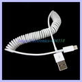 USB 2.0 to 8pin Retractable cable for iphone 5 5g Spring cable