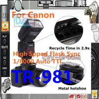 TRIOPO TR981 TR981C  speedlite support TTL flash with high speed sync HSS as YN568EX for canon DSLR camera PF061
