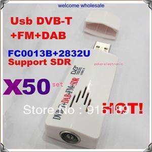 50 setX Digital TV Stick FM+DAB USB DVB-T RTL2832U+FC0013B Support SDR Perfect