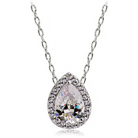 Necklace female necklace drop crystal zircon chain brief ol all-match Christmas gift