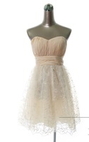 2013 New Design Happy Bridal's Wedding Dress For Nice Bridal Elegant Princess Bridesmaid Clothes Short Skirt Lynn Party Dresses