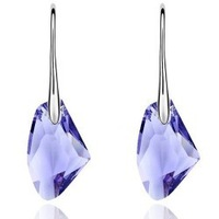 6 colors wholesale newest White Gold plated nice austrian crystal drop earrings fashion Jewelry r068