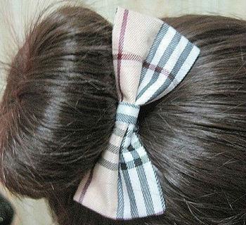 Fashion Lattice Fabrics Bowknot Hair Rope Headband for Women HJ038 Free shipping