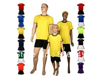 Can customed! 2012-2013 Plate soccer uniform blank soccer shirt & short soccer equipment 10set/lot free shipping