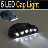 5 LED Fishing Camping Head Light HeadLamp Cap Hat Hunt 16077