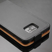 For Samsung Galaxy S2 Leather Case, Flip Leather Pouch Case Cover for Samsung I9100 Galaxy S2 S II S 2 SSI9100
