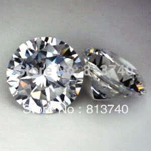 Free Shipping White & Round shape AAAAA Cubic zirconia gemstones, size 2.5mm Synthetic gemstones(China (Mainland))