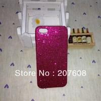 Shimmering Powder Plastic Hard Bling Glitter Shiney Back Case For Iphone5 Iphone 5 5G 100pcs/lot