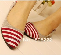 2013 spring and autumn patchwork flat shoes for women FREE SHIPPING