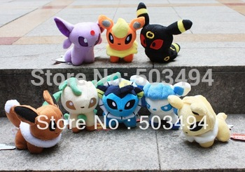 8 Styles 5 '' Pokemon Plush Doll  Umbreon Eevee Espeon Jolteon Vaporeon Flareon Glaceon Leafeon