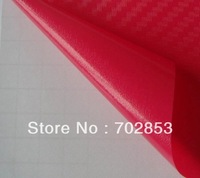 HOT! Wholesale  1.52*30m  red air free bubbles 3D carbon vinyl